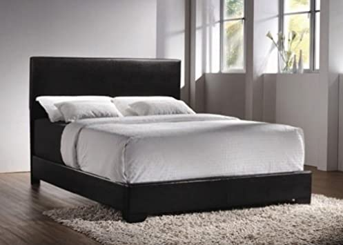 Lovely Queen Size Platform Bed Furniture Headboard Frame Modern Chic Bedroom Black New