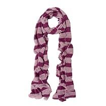 Premium Long Soft Knit Striped Scarf, Purple