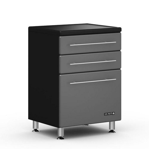 Images for Graphite and Black Three Drawer Base Cabinet Graphite Gray Doors/Black Cabinet