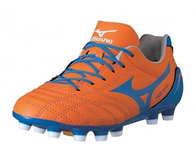 MIZUNO Neo Shin MD Junior Football Boots, Orange, UK1.5