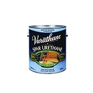 Rust oleum 250031 varathane gallon outdoor crystal clear gloss household varnishes for Varathane water based exterior polyurethane