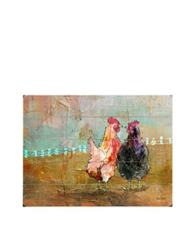 Hens Of A Feather Wood Wall Décor