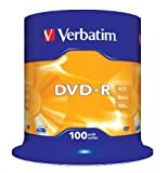 Verbatim 43549 DVD R, 16x, 4.7GB, 100 Pack portable sound vision