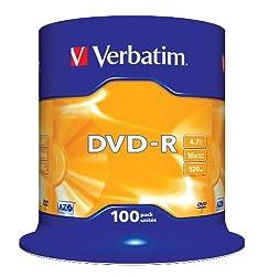 Verbatim 43549 16x DVD-R 4.7GB (Spindle Pack of 100)