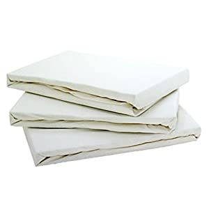 Jersey Cream 4ft fitted sheet