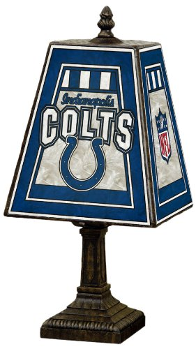 NFL Indianapolis Colts 14 Inch Art Glass Lamp at Amazon.com
