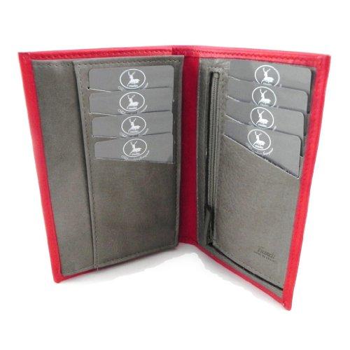 Signature Dual Zip Wallet Organizer by Rioni Designer Handbags /& Luggage
