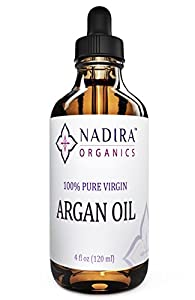 Organic Argan Oil - Premium Quality - Virgin Cold-pressed Pure Oil From Morocco for Skin, Face, Hair, and Nails. The Best Moroccan Moisturizer - Anti Aging - Revitalizes Hair - Renews the Whole External Body - One Year Satisfaction Guarantee. 4 Ounce