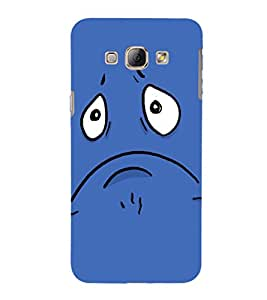 EPICCASE Grumpy smiley Mobile Back Case Cover For Samsung Galaxy A8 (Designer Case)