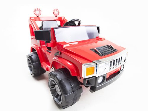 Red 1 Seat 12V Hummer Style Jeep + Remote 12V Rc Battery Power Kids Ride On Hummer Jeep Car W/ Big Wheels & R/C Remote Red