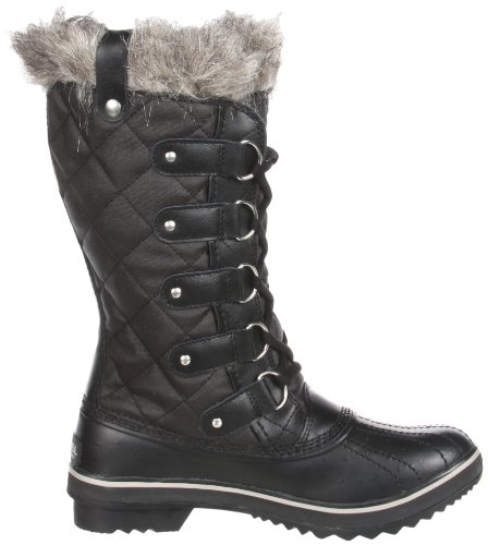 Womens Tofino Glitter Black Winter Boots | Santa Barbara