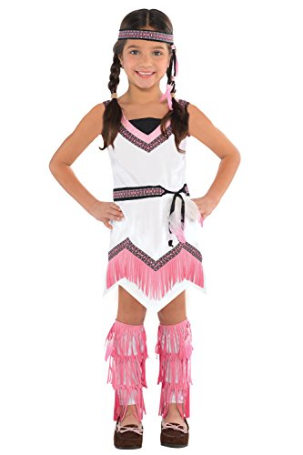 Native American Spirit Girls Red Indian Fancy Dress Costume
