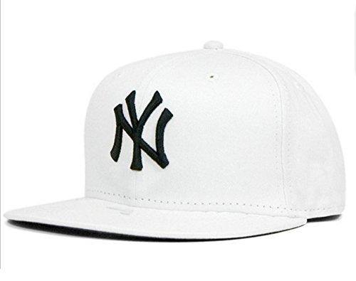 Tx Adjustable Unisex New York Yankees Cap Snapback Sport Flat Brim Hip-hop  Hat (White) - Buy Online in UAE.  d1fb963072f