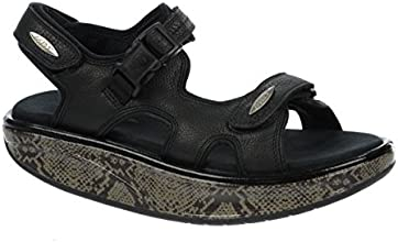 MBT Women39s Kisumu 3S Black Python Leather Size 40 Medium