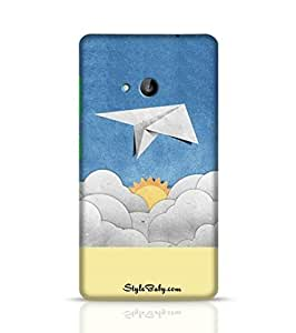 Style baby Aircraft Recycled Paper On Blue Sky Microsoft Lumia 535 Phone Case