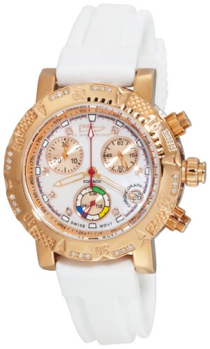 Daniel Steiger Women's 2009R-L Equinox Swiss Quartz Chronograph Rose-Gold Diamond Watch
