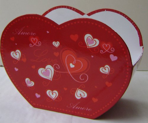 Heart Shaped Gift Package Box - 9 inches x 6