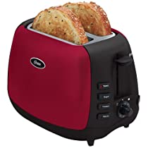 Oster 6595 Inspire 2-Slice Toaster, Red/Black