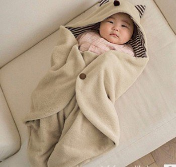 New Unisex Baby Sleeping Cute Animal Carrier Sack Nest Warm Bag /Christmas Clothes Beige front-218420