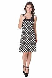 NOD Diana Black & White Checkers Dress, Large