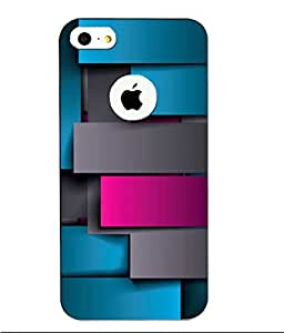Snazzy Abstract Printed Colorful Hard Back Cover For Apple Iphone 5/5S