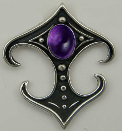 A Beautiful Gemstone in a Gothic Setting Featuring Amethyst