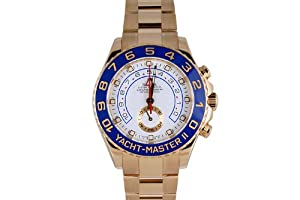 Rolex Mens Yellow Gold Yachtmaster II White Dial