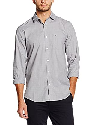 Dockers Camisa Hombre Refined Poplin Ls Standard (Antracita)