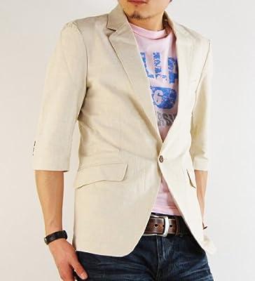 (アーケード) ARCADE 15color メンズ 7分袖 綿麻テーラードジャケット