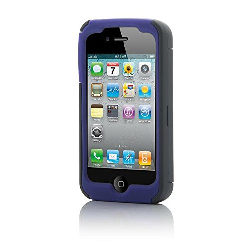 Dyxing Heavy Duty Rugged Hybrid Armor Defender Case Cover For Iphone 4/4S With Free 1 Screen Protector, 1 Black Stylus