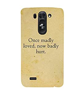 Once Madly loved 3D Hard Polycarbonate Designer Back Case Cover for LG G3 Beat :: LG G3 Vigor :: LG G3s :: LG g3s Dual
