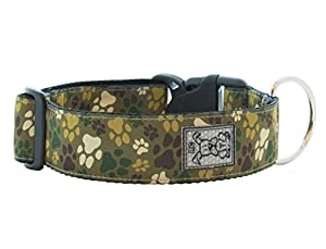 RC Pet Products 1-1/2-Inch Wide Dog Clip Collar, Large 15 to 25-Inch, Pitter Patter Camo
