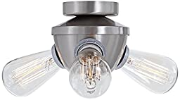 Edison Industrial 3-Light Brushed Nickel Fan Light Kit