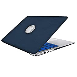 Leather MacBook Air Case 11 Inch, SlickBlue Hard Shell Leatherette Case with Keyboard Cover for MacBook Air 11