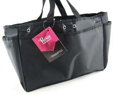Periea - Organiseur de sac à main - Bertha (Noir/Très Grand)