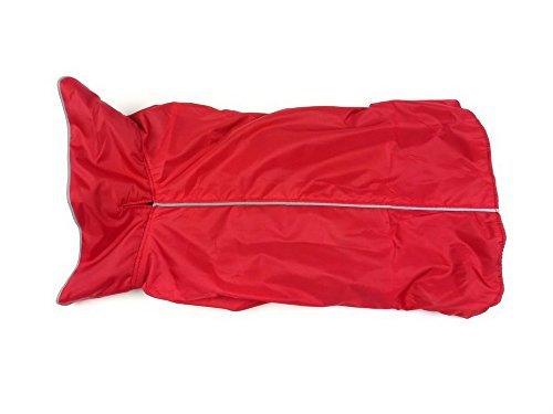 Hundemantel Regenmantel Hund Hundebekleidung Hundejacke Wintermantel Regenjacke-Rote (XL) -