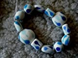 Blue Porcelain Stretch Bracelet