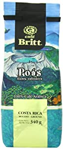 Cafe Britt Poas Volcanic Earth Ground Coffee, 12 Ounce Bag