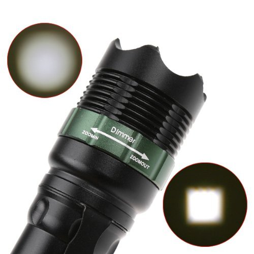 Lanlan 900 Lumens 7W T6 Led Flashlight Zoomable Torch