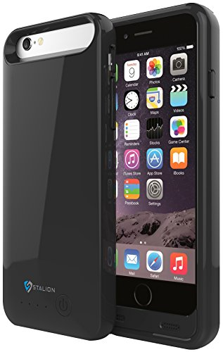 iPhone 5 5S SE Battery Case: Stalion® Stamina Rechargeable Extended Charging Case 2400mAh with kickstand [Apple MFi Certified](Jet Black) (Iphone Battery Case 5 compare prices)