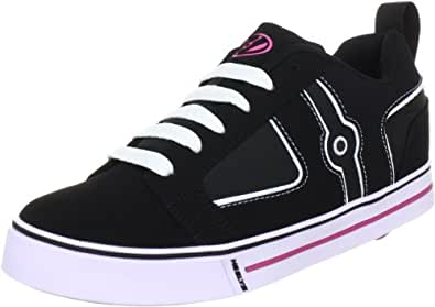 Heelys Helix, Chaussures de skate fille - Noir (Black White Pink), 12 Child UK