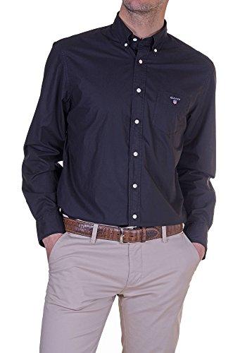 Gant - Camicia Uomo Regular Nero XXL