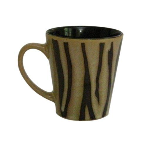 Brown And Tan Zebra Stripes Coffee Mug
