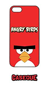 Caseque Angry Bird Red Back Shell Case Cover for Apple iPhone 5/5S