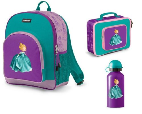e888304e99f7 Crocodile Creek Backpack With LunchBox and Drinking Bottle Set (Princess)