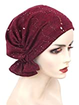 The Abbey Cap in Burgundy with Speckled Gold
