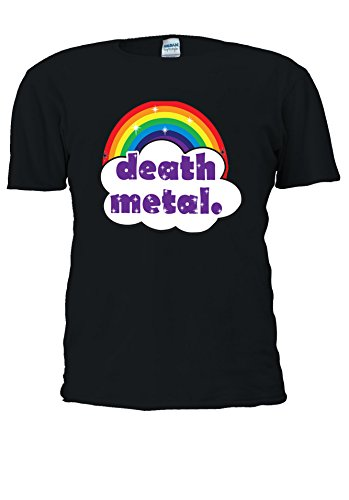 Cute Death Metal arcobaleno Funny Swag-Uomo Donna Unisex Top T Shirt .Black X-Large