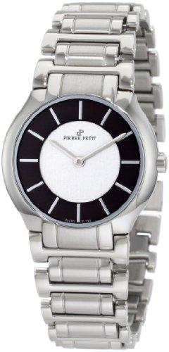 Pierre Petit P-799E - Reloj analógico de cuarzo para mujer con correa de acero inoxidable, color plateado