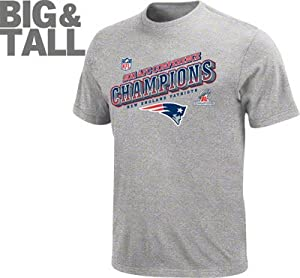 New England Patriots Big & Tall Heathered Grey 2011 NFC Conference Champions... by NFL Team Apparel
