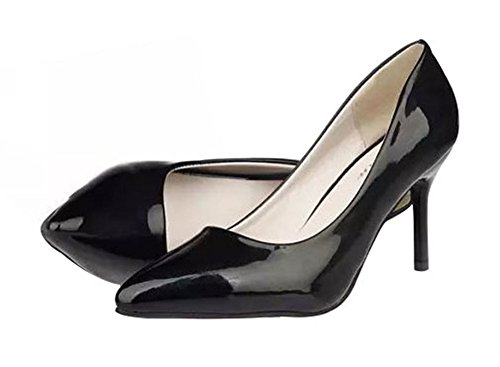 T&Grade Women Fashion Low Top Pointed Toe Thin Heel Dress Party Pumps